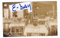 1940's RPPC BRAINERD MN GRAND VIEW LODGE DINING ROOM GULL LAKE POSTCARD MINNESOT
