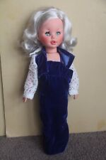 FURGA DOLL VINTAGE PLATINUM ALTA MODA ? ITALY GIRL SLEEPY ORIGINAL ANTIQUE 17""