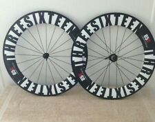 Carbon Fiber Road Bicycle 85mm Clincher Wheelset 3-Sixteen Brand!