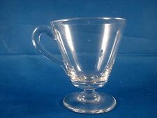 19th Or Early 20th c Footed Blown Custard Or Punch Cup With Applied Handle