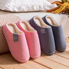 Unisex Hausschuhe Winter Schuhe Plüsch Warm Pantoffeln Slipper Indoor Schuhe DE