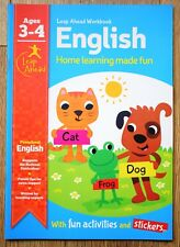 Pre School Educational Book Children 3 4 year Home Learning Reading Letters ABC