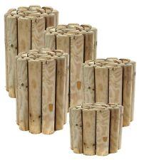 More details for log rolls garden wooden grass border lawn edging wood flower edge 1.8m long