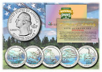 2014 America The Beautiful HOLOGRAM Quarters U.S. Parks 5-Coin Set w/Capsules