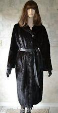 Gorgeous VTG Genuine Mahogany Black MINK FUR COAT, Full length, size M / L