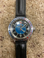 Mens Mechanical Wristwatch Vostok Komandirskie Russian Amphibian Submarine 1990s
