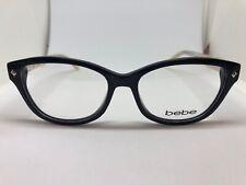 NEW Bebe BB5066 Hunny Bunny 🐰 001 Jet 52.16.135 Eyeglass Frames