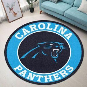 Carolina Panthers Area Rug Round Rug Football Floor Mat Non-slip Home Door Mat