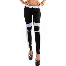 Women's Jeans Skinny Stretchy Zipper Long Pants Slim Pencil Trousers US Gift