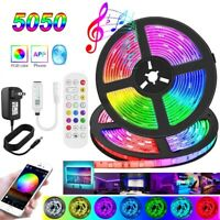 50Ft 32Ft LED Strip Lights 5050 Music Sync Bluetooth Remote Decor Room Light Kit