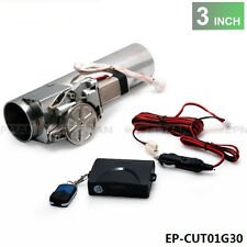 "3.0"" Electric I-Pipe Exhaust Downpipe Cutout E-Cut Out Valve System Kit Remonte"