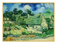 Vincent Van Gogh's Thatched Cottages Counted Cross Stitch Pattern