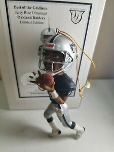 """JERRY RICE MEMORY COMPANY """"BEST OF THE GRIDIRON FIGURINE LIMITED ED ORNAMENT"""