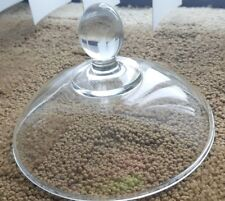 """Kig Indonesia glass lid, replacement, topper for bowl, 6"""" diameter"""