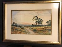 WATERCOLOUR By S.B. HALL CIRCA 1898 OF ROSCOMMON IRELAND 9 BY 12 INCHES INITIAL