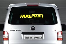 LARGE Fake Taxi Sticker vinyl decal Slammed Ride Euro JDM Drift Low Dub VW AUDI
