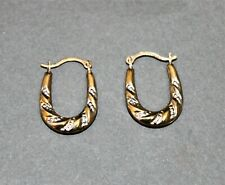 9ct Yellow Gold Creole Hope Earrings - Thames Hospice