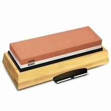 Sharpening Stone 3000 & 8000 Grit Double Sided Whetstone Set for Knives W X3p5