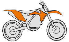 RTECH Plastik Kit passt an KTM EXC SX 125 200 250 300 380 400 520 98-00 orange