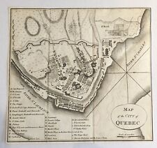 Rare 1796 Plan of Quebec Published in United States Monthly Military Repository