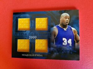 SHAQ SHAQUILLE O'NEAL GAME USED JERSEY CARD #d4/35 LEAF 2020 ITG LAKERS