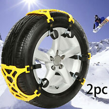 2PC TPU Auto Camion Invernale Neve Catena TIRE ANTISLITTAMENTO Cintura Sicurezza