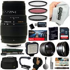 Sigma 70-300mm Lens with 64GB for Nikon D5500 D5300 D5200 D3400 D3300 D3200