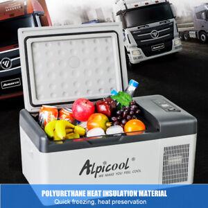 15L Portable Freezer Alpicool Fridge 12/24/220V Refrigerator Cooler for Home Car