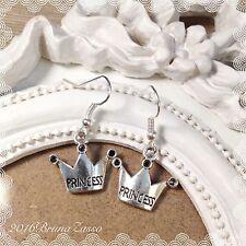 Orecchini Principessa Princess Crown Earrings Argento Cute Vintage Hipster Gift