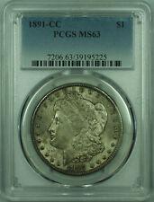 1891-CC Morgan Silver Dollar $1 Coin PCGS MS-63 Toned (27) B
