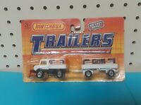 1990 MATCHBOX TRAILERS SNOW PLOW AND TRAILER