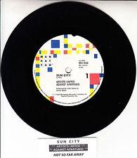 ARTISTS UNITED AGAINST APARTHEID  Sun City BOB DYLAN U2 PAT BENATAR LOU REED 45