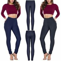 PLUS SIZE LADIES SKINNY FIT DENIM STRETCHY JEGGINGS WOMENS SLIM JEANS TROUSERS