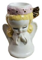 "Ceramic Praying Angel For Votive Candle Holder 5"" Tall"