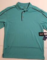 Mens PGA Tour Golf Polo Dry Wick Performance Shirt Medium