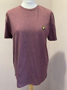 "Men's Lyle & Scott T-shirt Size M (36-38"") Claret Marl Maroon"