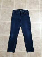 Talbots Flawless Five Pocket Jeans Petites Green Slim Ankle Curvy Womens Size 4P