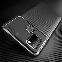 For Samsung Galaxy A21s Case, Slim Armour Shockproof Phone Cover + Screen Glass