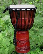 20x10 Tribal Wave Design Djembe Bongo Hand Drum - Blemish Discount