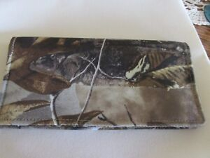 Real Tree Camo Outdoor Hunting Unisex Simple Checkbook cover, Made in Ohio, USA