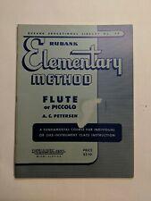 Rubank Elementary Method for Flute or Piccolo Beginner Music Lessons Book