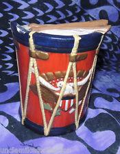 """VTG Beautiful Handmade 1975 Ceramic Civil War Coat fo Arms Drum Bank 5.5"""" FDCC"""