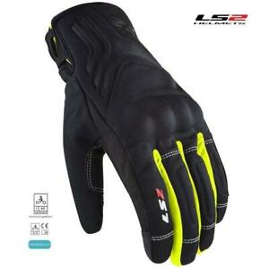 Motorcycle Gloves Man Touring With Guards 3 Seasons LS2 Jet I Black/Yellow Fluo