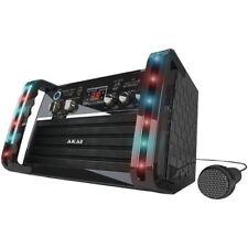PORTABLE AKAI CD+G PLAYER KARAOKE MACHINE SYSTEM with COLOR LED LIGHTS KS-212