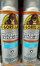 2 Gorilla Seal Clear Liquid Rubber Spray Sealant Coating 14 Oz Each
