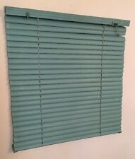 "VTG 80's 90's Turquoise Teal Blue Green Window Mini Blinds - 19"" Wide x 20"" Tall"