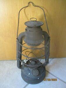 Alte Sturmlaterne Laterne Öllampe Petroleumlampe Wehrmacht grau Bunkerlampe