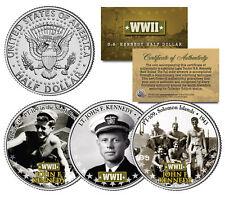 Lieutenant JOHN F KENNEDY World War II Navy JFK Half Dollar U.S. 3-Coin Set WWII