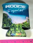 CAN KOOZIE CAN CADDY CAN COOLER BY KOOZIE ISLAND SCENE FRONT JUNGLE SCENE BACK