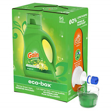Gain Ultra Concentrated Liquid Laundry Detergent eco-Box, Original Scent, HE 105